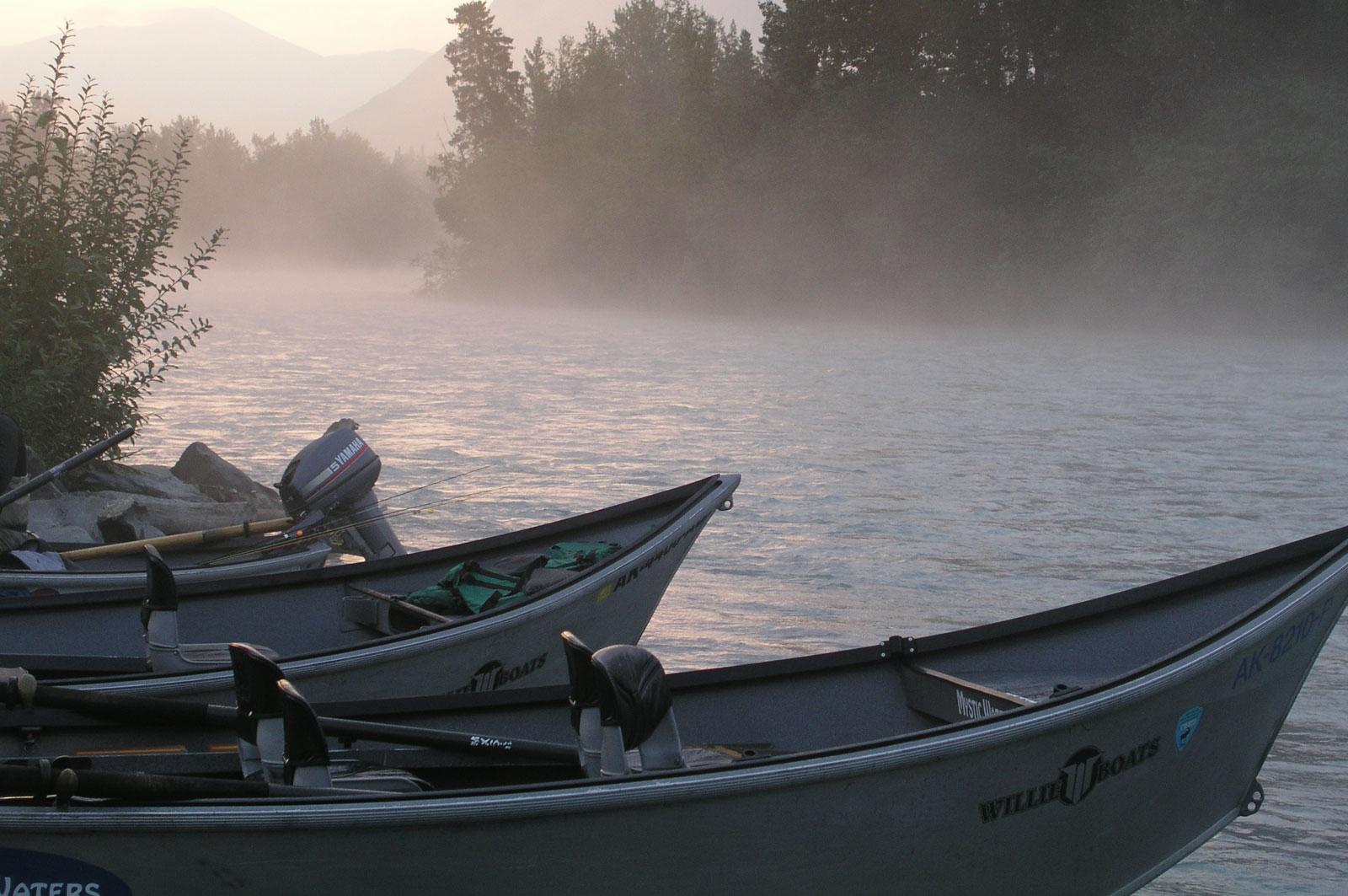 Alaska Drift Boats on Kenai River