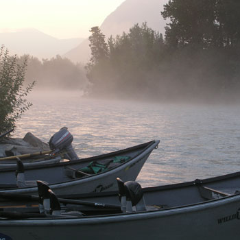 Alaska Drift Boats on Kenai River