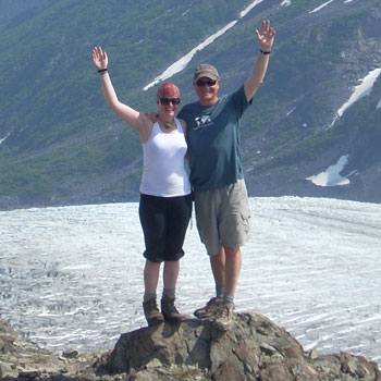 Alaska Trips Couple on Summit