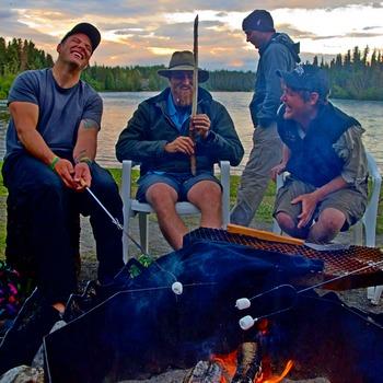 Evening Activities Staff on Beach Fire