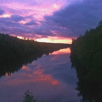 Moose River Sunset Vertical