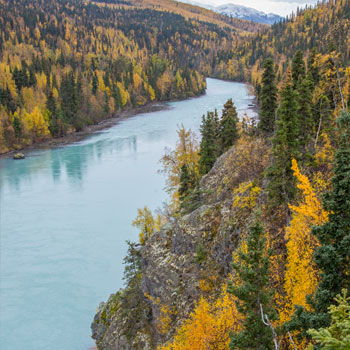 Alaska Adventures Scenic Floats Salmon River Fall
