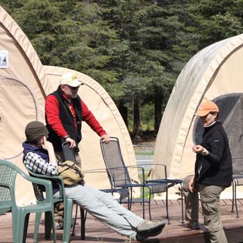 Alaska Bearcamp Relaxing at Camp