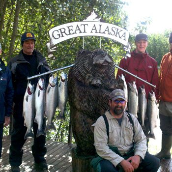 Alaska Fishing Kenai Silver Catch