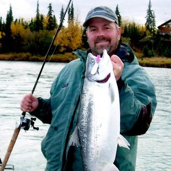 Alaska Fishing Silver Salmon Vertical Fall Jeff