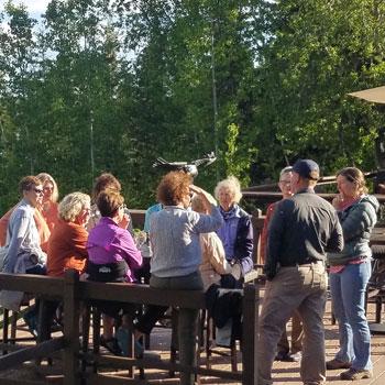 Alaska Group Travel Group on Deck