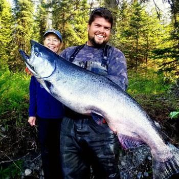 Alaska Salmon Fishing Beautiful King Salmon