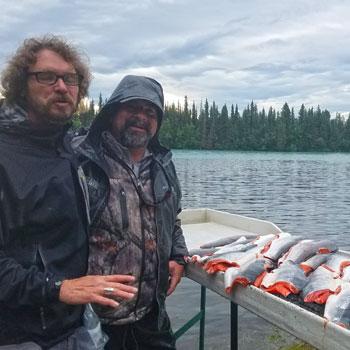 Alaska Salmon Fishing Stack of Fillets