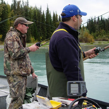 Kenai River Drifting for Trout in Fall