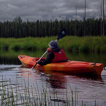 Moose Paddler and Grass Square