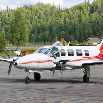 National Park Safari Denali Flightsee Plane on Runway